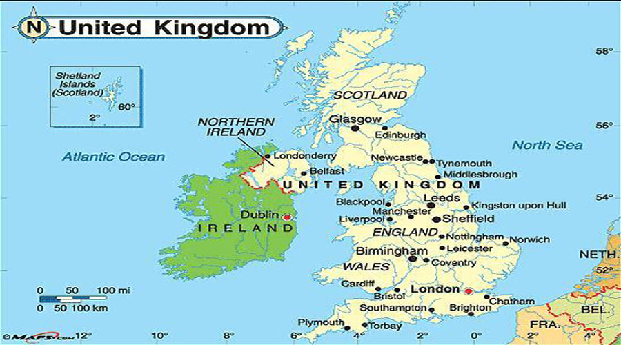 Map of UK Hyderabad Overseas Consultants