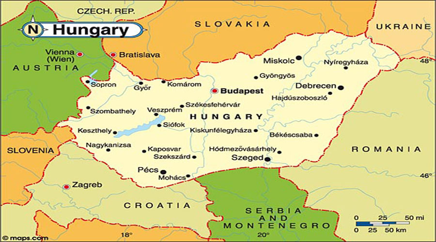 Map of Hungary Hyderabad Overseas Consultants