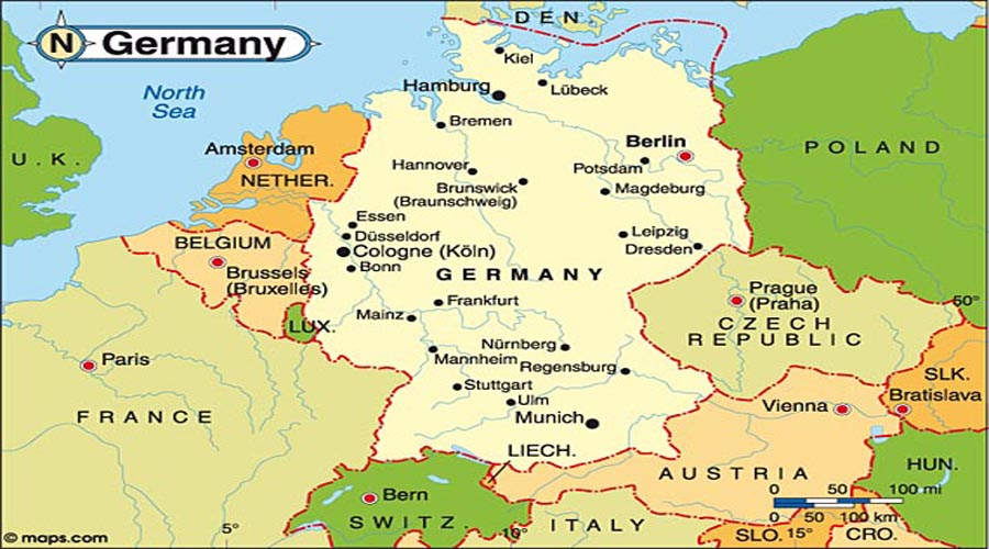 Map of Germany Hyderabad Overseas Consultants